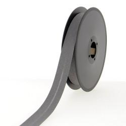 Biais polycoton 30mm - gris anthracite  - 1Biais gris anthracite Largeur 30mm 50% coton - 50% polyester 1 unité = 0m50; pour pl