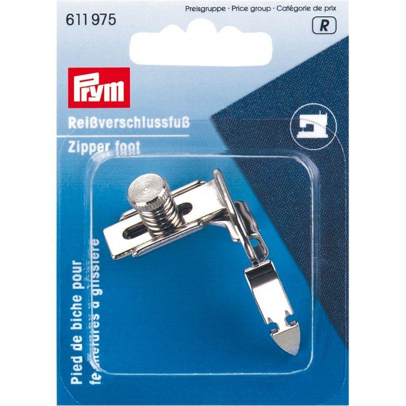 Pied biche pour les fermetures à glissières Prym Prym - 1Pied de biche pour faciliter la pose des fermetures à glissièreAccessoi