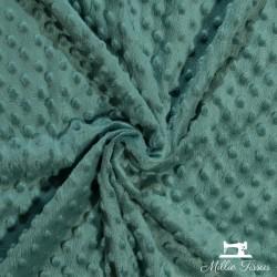 Tissu doudou minkee relief à pois X10cm - céladon  - 1Tissu doudou minkee relief à pois -céladon 100% polyester Laize d'1m50 Le