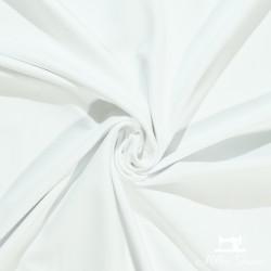 Tissu jersey uni X10cm - blanc  - 1Tissu jerseyuni - blanc 92% coton 8% élasthanne Laize d'1m50 - certifié OekoTex Le tissu est