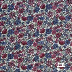 Tissu coton cretonne Apolline X10cm - rose et bleu  - 1Tissu cretonneApolline -rose et bleue 100% coton Raccord :9cm Laize