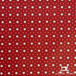 Tissu coton cretonne enduit Ceramik X10cm - Rouge  - 1Tissucretonne enduit Ceramik - rouge 100% coton Laize d'1m60 Le tissu es