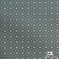 Tissu coton cretonne enduit Ceramik X10cm - gris souris  - 1Tissucretonne enduit Ceramik -gris souris 100% coton Laize d'1m60
