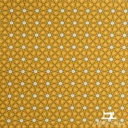 Tissu coton cretonne enduit Ceramik X10cm - safran  - 1Tissucretonne enduit Ceramik -safran 100% coton Laize d'1m60 Le tissu
