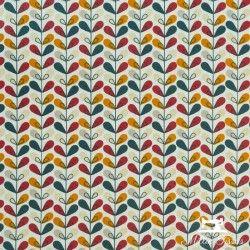 Tissu coton cretonne enduit Scandy X10cm - rouge  - 1Tissucretonne enduitScandy - rouge Raccord :6,3 cm 100% coton Laize d'1