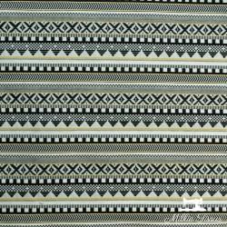 Tissu jacquard Alabama X10cm - or et noir  - 1Tissujacquard Alabama - or et noir Raccord :environ 16cm 59% coton, 38% polyeste
