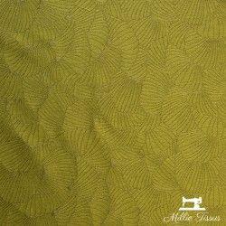 Tissu jacquard Anémone X10cm - gold  - 1TissujacquardAnémone -gold Raccord :environ 36,5cm 84% polyester, 16%coton Laize d'