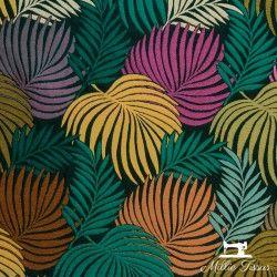 Tissu Jacquard CopaCabana X10cm - Multicolore  - 1Tissujacquard CopaCabana -multicolore Raccord : environ 52 cm 65% polyester,