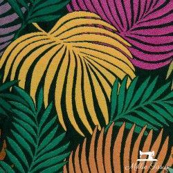 Tissu Jacquard CopaCabana X10cm - Multicolore  - 2Tissujacquard CopaCabana -multicolore Raccord : environ 52 cm 65% polyester,