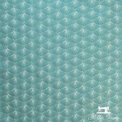 Tissu Jacquard Coréa X10cm - Bleu  - 1Tissujacquard Coréa - Bleu Raccord : environ 5 cm 100% polyester Laize d'1m40 Le tissu es