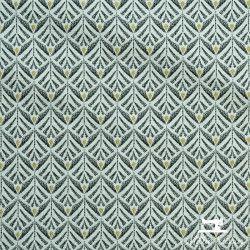 Tissu Jacquard Zephyr X10cm - Noir  - 1TissujacquardZéphyr - Noir Raccord : environ 5 cm 72% polyester, 28% coton Laize d'1m40