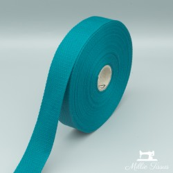 Sangle coton - turquoise foncé  - 2Sangle cotonturquoise foncé Largeur : 30 mm 1 unité = 0m50 ; pour plusieurs longueurs acheté