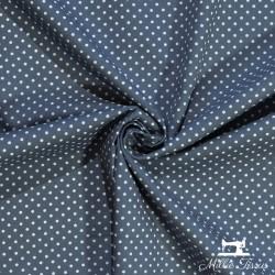 Tissu coton mini pois X10cm - anthracite  - 1Tissumini pois blanc sur fondgris anthracite 100% coton Laize d'1m50 - dimension