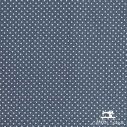 Tissu coton mini pois X10cm - anthracite  - 2Tissumini pois blanc sur fondgris anthracite 100% coton Laize d'1m50 - dimension