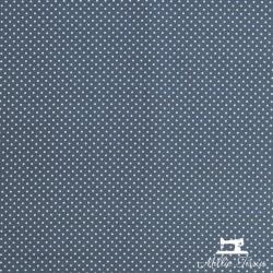 Tissu coton mini pois X10cm - anthracite  - 3Tissumini pois blanc sur fondgris anthracite 100% coton Laize d'1m50 - dimension