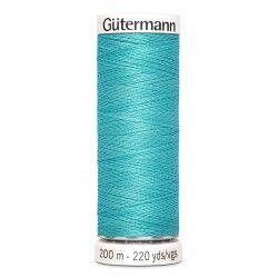 Bobine de fil turquoise 192 Gütermann 200m polyester pour tout coudre Gütermann - 1Bobine de fil turquoise coloris 192 Bobine de