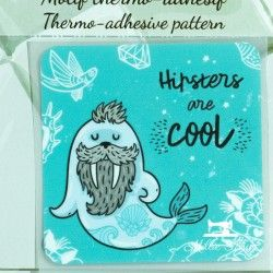 "Motif thermo-adhésif ""Hipsters are cool""  - 1Motif thermo-adhésif - ""Hipsters are cool"" Largeur : 6,9cm X Hauteur : 6,9cm  Vendu"