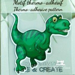 Motif thermo-adhésif Dinosaure  - 1Motif thermo-adhésif -Dinosaure Largeur : 7,2cm X Hauteur : 7,2cm  Vendu à l'unité