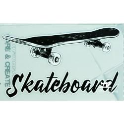 Motif thermo-adhésif Skateboard - grand modèle  - 1Motif thermo-adhésif-Skateboard Grand modèle Le skateboard : Largeur : 14,9