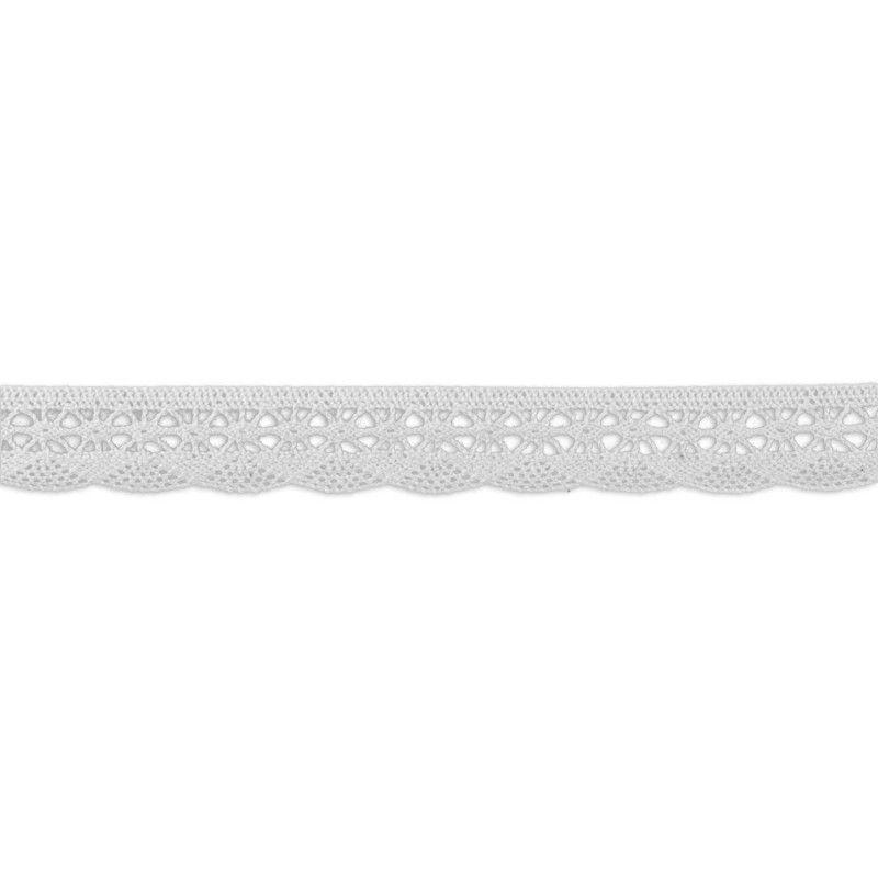 Dentelle coton vague blanc  - 1Dentelle blanchecoton , 20mm de large 1 unité = 0m50 ; pour plusieurs longueurs achetées, vous r