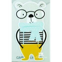Motif thermo-adhésif Ours aux lunettes - grand modèle  - 1Motif thermo-adhésif- Ours aux lunettes Grand modèle Crocodile: Lar