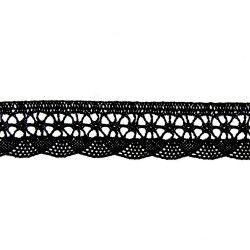 dentelle coton avec base arrondie noir
