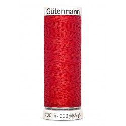 Bobine de fil rouge 364 Gütermann 200m polyester pour tout coudre Gütermann - 1Bobine de fil rouge coloris 364 Bobine de 200m, p