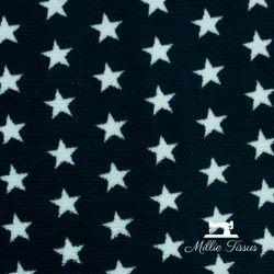 Tissu doudou toison étoiles  X10cm - marine  - 2Tissu doudou toison étoiles -Marine 100% polyester Laize d'1m50 Le tissu est ve