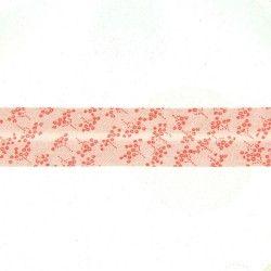 biais rose saumon à motifs vigne