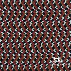 Tissu crêpe de polyester Zigzag X10cm - bordeaux  - 1Tissu crêpe de polyesterZigzag -bordeaux 100% polyester Laize d'1m45 Le