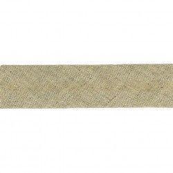 biais en lin et coton de couleur lin