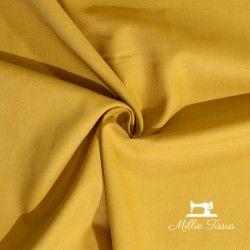 Tissu coton uni X10cm - moutarde  - 1Tissu coton -moutarde 100%coton , certifié OekoTex Laize d'1m45 Le tissu est vendu par mu