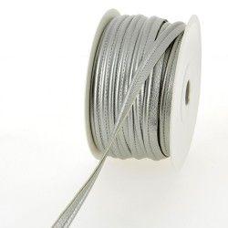 Passepoil simili cuir - argent  - 1Passepoil simili cuir 100% polyuréthane couleurargent Largeur : 10 mm 1 unité = 0m50 ; pour