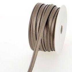 Passepoil simili cuir - taupe  - 1Passepoil simili cuir 100% polyuréthane couleurtaupe Largeur : 10 mm 1 unité = 0m50 ; pour pl