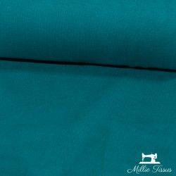 Tissu bord-côte X10cm - bleu canard  - 1Tissu tubulaire bord-côte -bleu canard 95% coton, 5%élasthanne Laize de 35 cm Certifi