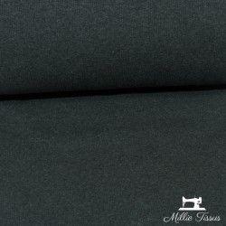 Tissu bord-côte X10cm - chiné gris foncé  - 1Tissu tubulaire bord-côte - chiné gris foncé 95% coton, 5%élasthanne Laize de 35