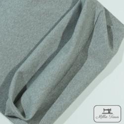 Tissu bord-côte X10cm - gris  - 1Tissu tubulaire bord-côte -gris 95% coton, 5%élasthanne Laize de 35 cm Certifié Oeko-Tex Le