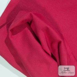 Tissu bord-côte X10cm - fuchsia  - 1Tissu tubulaire bord-côte -fuchsia 95% coton, 5%élasthanne Laize de 35 cm Certifié Oeko-T