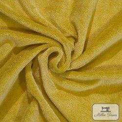 Micro éponge bambou X10cm - Moutarde  - 1Micro éponge bambou -moutarde 40% bambou, 40 % polyester et 20% coton - certifié OekoT