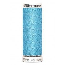 Bobine de fil bleu 196 Gütermann 200m polyester pour tout coudre Gütermann - 1Bobine de filbleu coloris 196 Bobine de 200m, pol