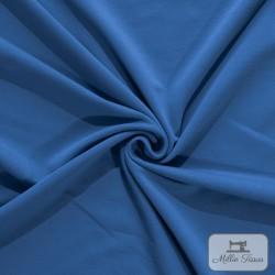 Tissu French Terry sweat léger uni X10cm - bleu jeans  - 1Tissu French Terry sweat léger uni - bleu jeans 95% coton 5% élasthann