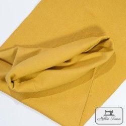 Tissu bord-côte X10cm - Moutarde  - 1Tissu tubulaire bord-côte - Moutarde 95% coton, 5%élasthanne Laize de 35 cm Certifié Oeko