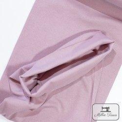 Tissu bord-côte X10cm - Romance  - 1Tissu tubulaire bord-côte -Romance 95% coton, 5%élasthanne Laize de 35 cm Certifié Oeko-T