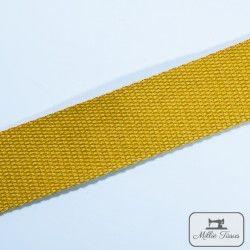 Sangle coton - moutarde  - 3Sangle coton moutarde Largeur : 30 mm 1 unité = 0m50 ; pour plusieurs longueurs achetées, vous recev