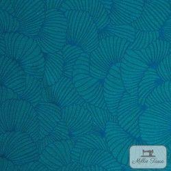 Tissu jacquard Anémone X10cm - Canard  - 1TissujacquardAnémone - Canard Raccord :environ 36,5cm 84% polyester, 16%coton Laiz