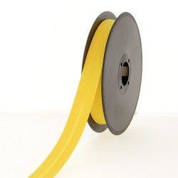 Biais polycoton 20mm - jaune d'or  - 1Biais jaune d'or Largeur 20mm 50% coton - 50% polyester 1 unité = 0m50; pour plusieurs lo