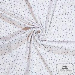 Tissu jersey tâcheté X10cm - Gris clair  - 1Tissu jersey Tâcheté -Ecru 95% coton 5% élasthanne Laize d'1m40 Raccord: 5 cm cert