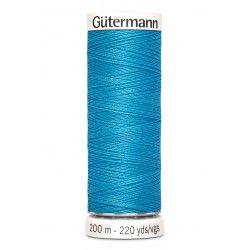 Bobine de fil bleu 197 Gütermann 200m polyester pour tout coudre Gütermann - 1Bobine de filbleu coloris 197 Bobine de 200m, pol