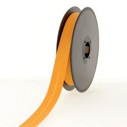 Biais polycoton 20mm - mandarine  - 1Biais mandarine Largeur 20mm 50% coton - 50% polyester 1 unité = 0m50; pour plusieurs long