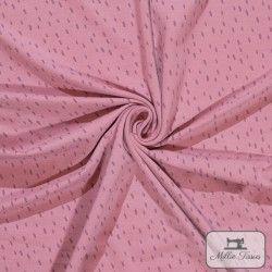 Tissu jersey tâcheté X10cm - Romance  - 1Tissu jersey Tâcheté -Romance 95% coton 5% élasthanne Laize d'1m40 Raccord: 5 cm cert